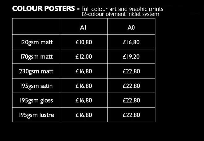 colour poster prices 2